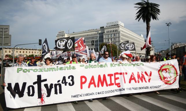 Marszem upamiętnili ludobójstwo na Polakach. \