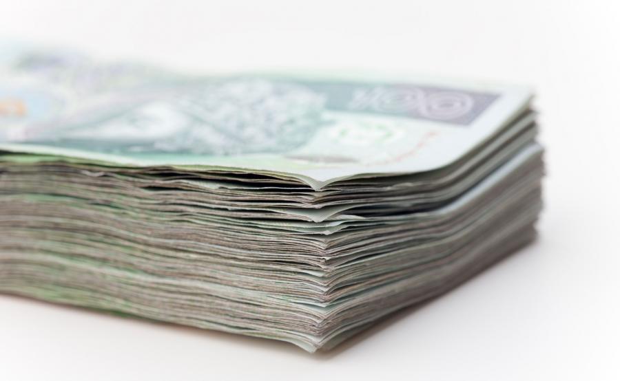 Plik polskich banknotów