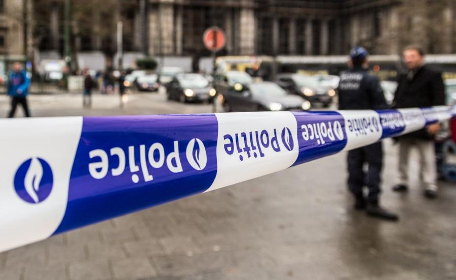 Policyjna taśma - belgijska policja