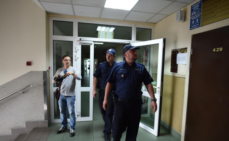 Policja w łódzkim sądzie