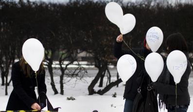 500 balonów przeciwko wojnie w Strefie Gazy
