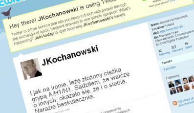 Janusz Kochanowski złapał świńską grypę