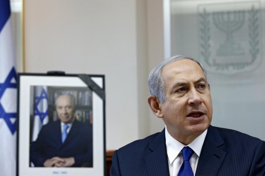Benjamin Netanjahu na specjalnym posiedzeniu rządu