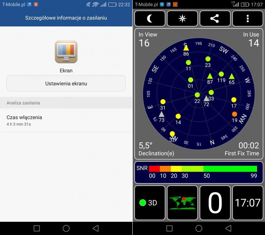 Honor 8 - wytrzymałość baterii i działanie GPS