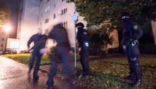 Policjanci na ulicach Chemnitz
