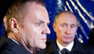 Donald Tusk i Władimir Putin w Smoleńsku