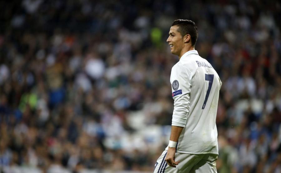 Cristiano Ronaldo w czasie meczu z Legią Warszawa