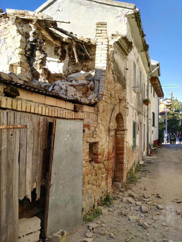 Zniszczony budynek w Rapino