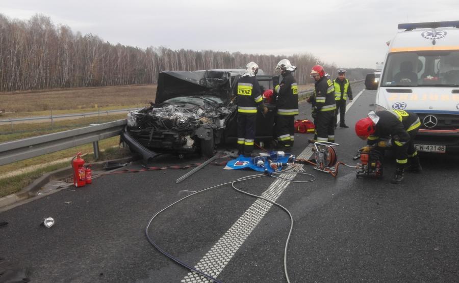 Miejsce wypadku na A2