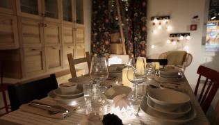 Świąteczne oświetlenie mieszkania