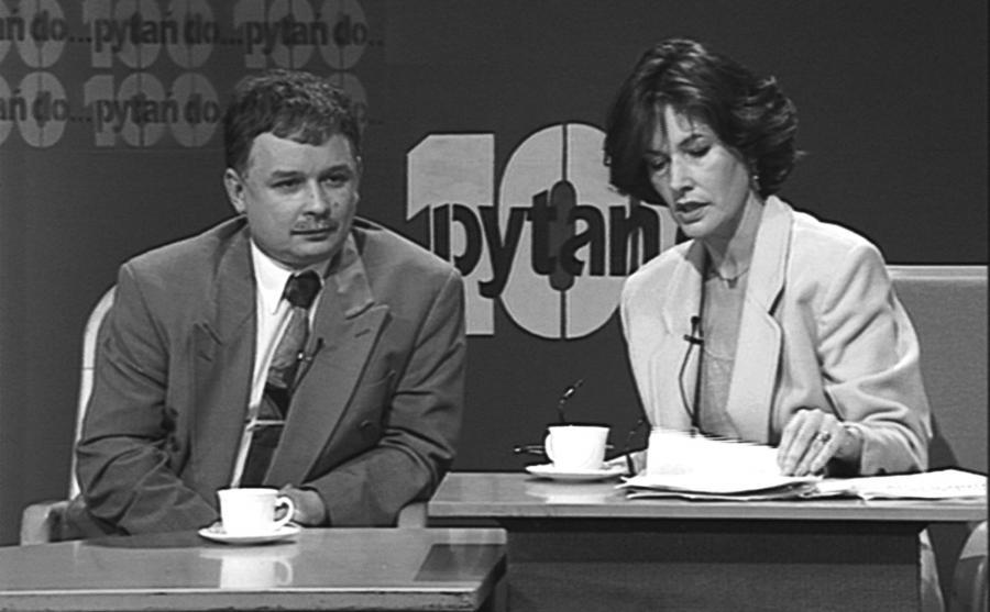 Anna Grzeszczuk-Gałązka i Lech Kaczyński w programie \