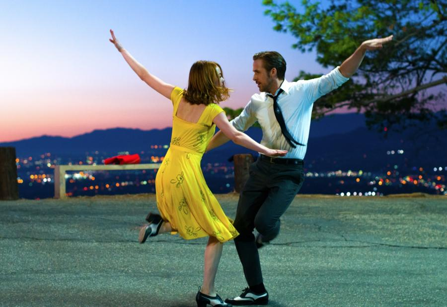 "Oficjalna grafika do filmu ""La La Land"""
