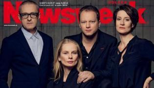 """Jacek Poniedziałek, Magdalena Cielecka, Maciej Stuhr i Maja Ostaszewska na okładce """"Newsweeka"""""""