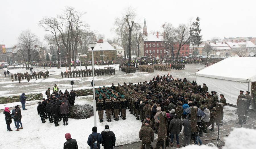 Powitanie żołnierzy