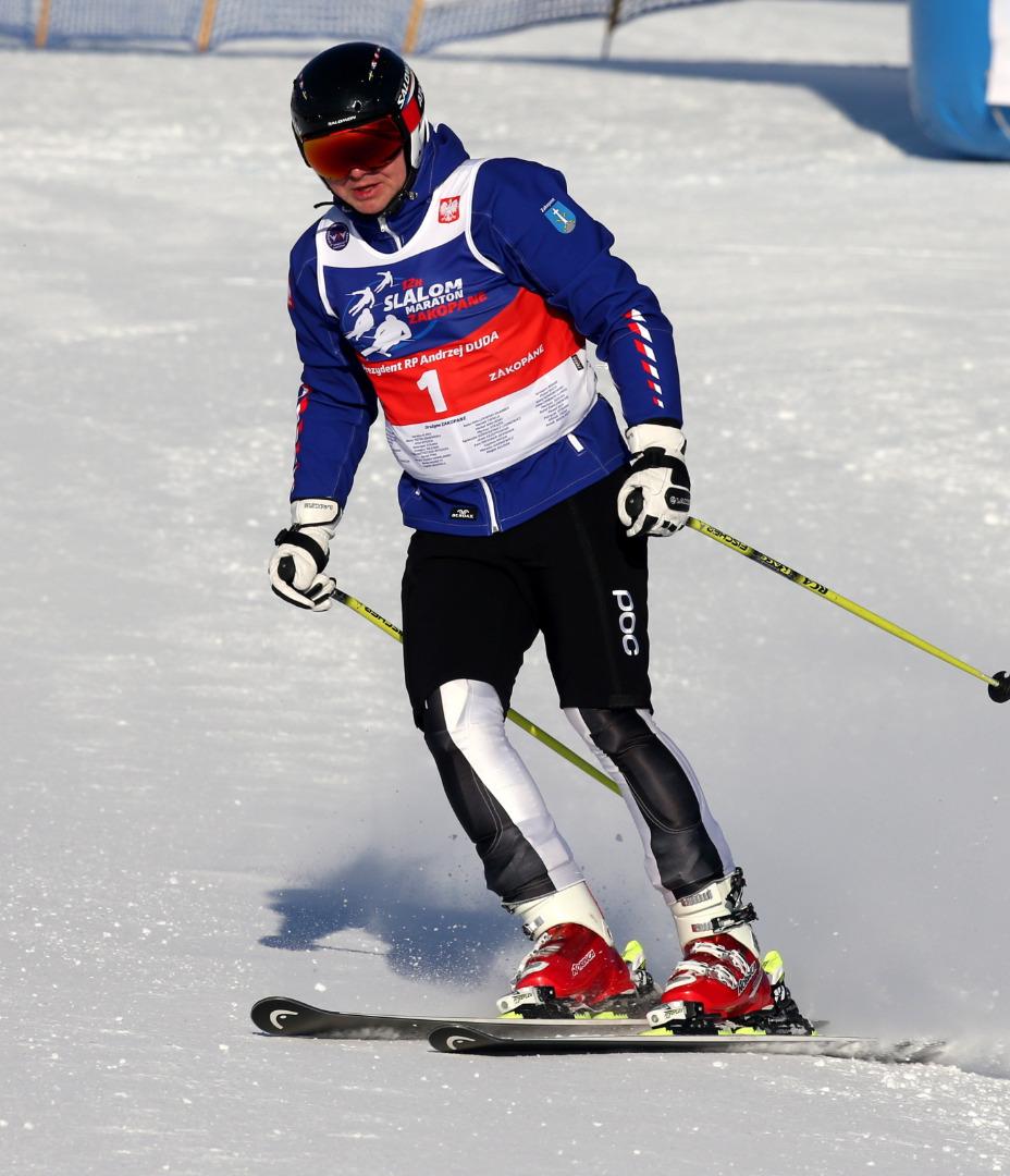 Andrzej Duda świetnie radzi sobie na nartach
