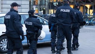 Niemiecka policja w Hamburgu