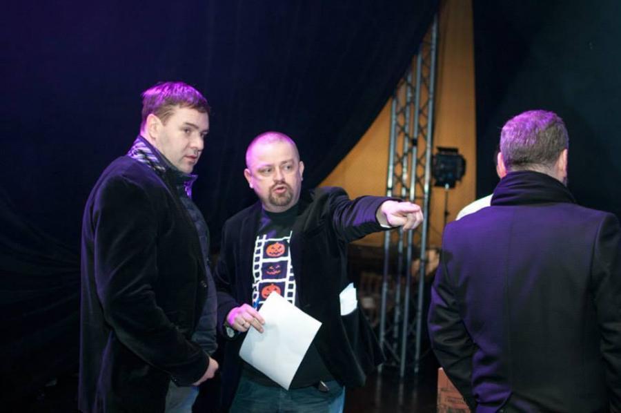 Przygotowania do gali Węże 2015 - na zdjęciu Tomasz Karolak i Kamil Śmiałkowski; fot. facebook.com/nagrodyweze
