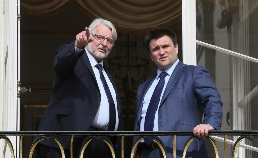 Minister spraw zagranicznych Witold Waszczykowski i szef MSZ Ukrainy Pawło Klimkin